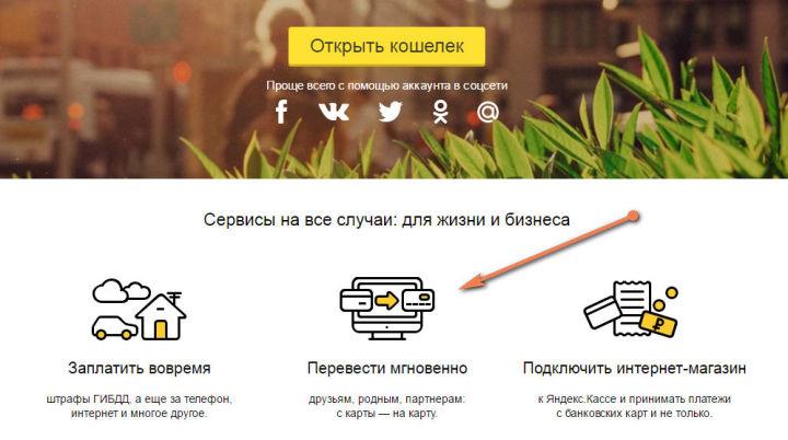 Для мгновенного перевода с карты на карту даже не обязательно иметь кошелек Яндекс.Деньги